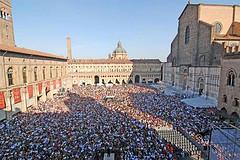 Piazza Maggiore durante il V-day