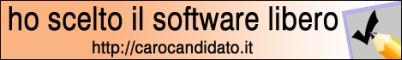 Candidato per il software libero! (banner)
