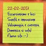News del 22 febbraio 2013