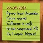 News del 22 settembre 2013