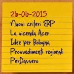 News del 26 giugno 2015