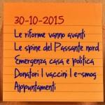 News del 30 ottobre 2015