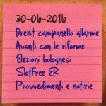 News del 30 giugno 2016