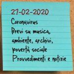 News del 27 febbraio 2020