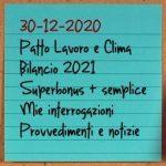 News del 30 dicembre 2020
